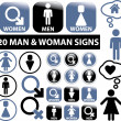 Man & woman signs — Stock Vector
