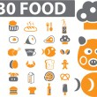30 food signs - Stock Vector