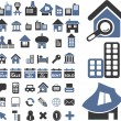 Stock Vector: 50 real estate signs