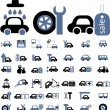 Cars signs - Stockvectorbeeld