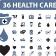 36 health care signs - Stock Vector