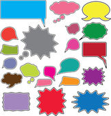 20 comic style chat bubbles — Stock Vector