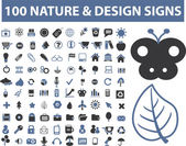 100 nature — Vetorial Stock