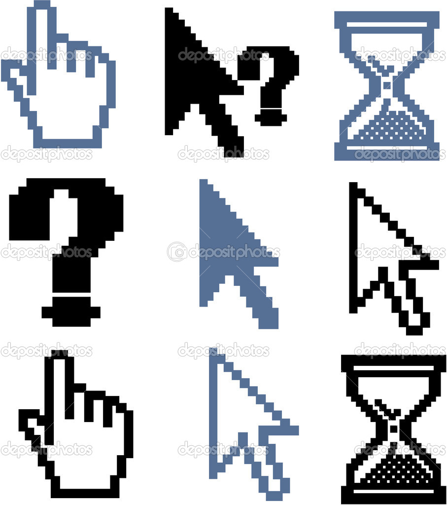 Cursor signs - mega set, vector — Stock Vector #5007527