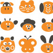 Royalty-Free Stock Vector Image: Animals cute signs