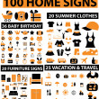 100 home signs — Stock Vector #5012887