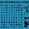 Royalty-Free Stock Vector Image: 100 technology signs