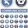Communication buttons - Stock Vector