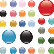 Glossy color buttons - Stock Vector