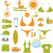 Royalty-Free Stock Vector Image: Summer signs