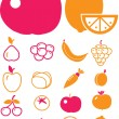 Cute vegetables - Stock Vector