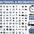 100 travel — Vettoriale Stock #5016574