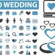 50 wedding signs — Vector de stock