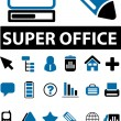 20 super office signs — Stock Vector