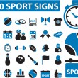 Royalty-Free Stock Imagen vectorial: 30 sport signs