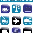 Royalty-Free Stock Imagen vectorial: Transportation signs