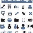 25 software signs, vector — Stock Vector