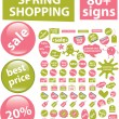 80   spring shopping signs - Stock Vector