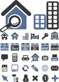 Real estate signs — Stock Vector