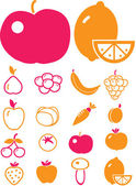 Cute vegetables — Stock Vector