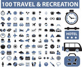 100 travel — Stok Vektör
