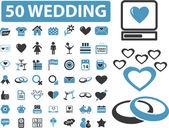 50 wedding signs — Stock Vector