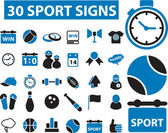 30 sport signs — Stock Vector