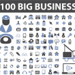 100 big business signs — Stock Vector