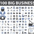 100 big business signs - Image vectorielle