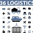 Logistics signs — Stock Vector