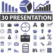 Presentation business signs — Stockvectorbeeld