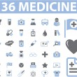 36 medicine web signs — Stock Vector