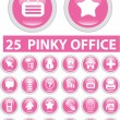 25 pinky office signs — Stok Vektör