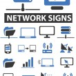 Network signs — Stock Vector