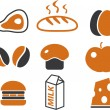 Royalty-Free Stock Vector Image: Food cute signs