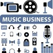 Music business signs — Stock Vector