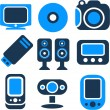 New multimedia icons — Stock Vector