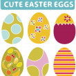 Easter eggs — Stock Vector #5023054