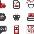 Love signs, vector — Vettoriali Stock