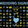 Wedding signs — Stock Vector #5024553