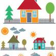 4 family houses — Stock Vector #5025061