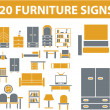 Stock Vector: Furniture signs
