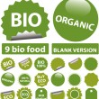 Bio stickers — Stock Vector