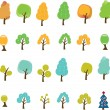 Stock Vector: Trees signs