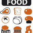 Food signs - Stock Vector