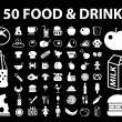 50 food — Vector de stock