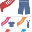 Stock Vector: Corner clothes signs