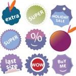Cute shopping stickers, vector — Stock Vector #5025719