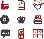 Love signs, vector — Stock Vector