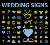 Wedding signs — Stock Vector